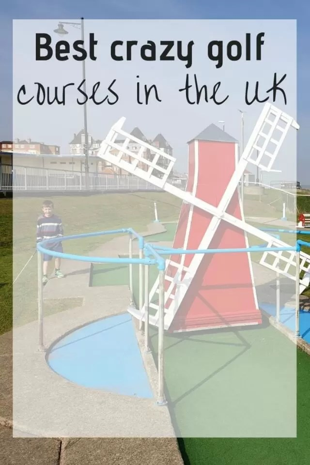 Crazy golf courses UK windmill