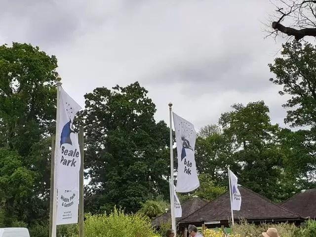 beale park entrance flags