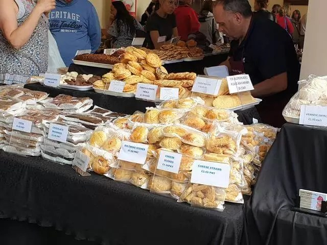cake and scone stall