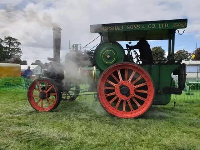 green steam engine