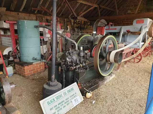 old steam engines at work
