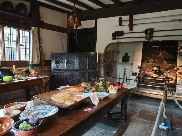 kitchen at halls croft