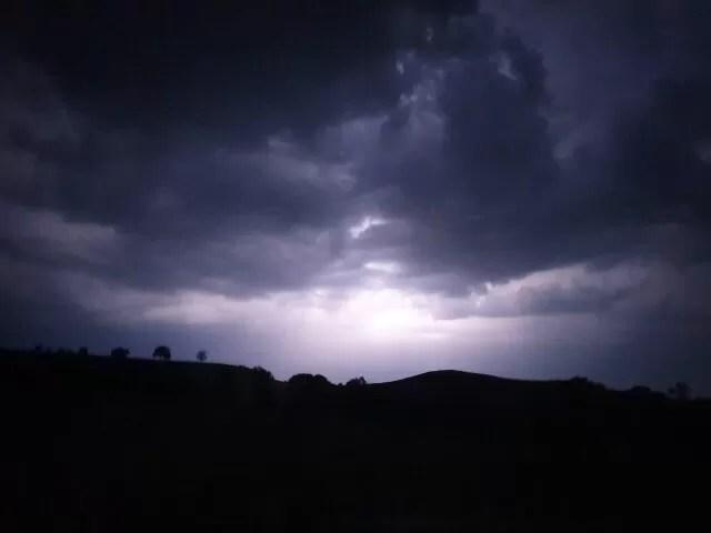 lightning strikes at night