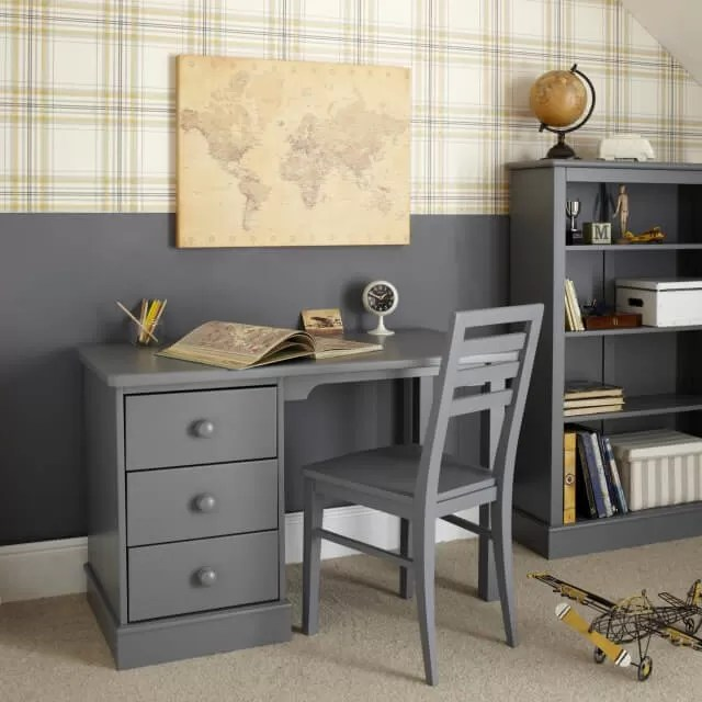 Aspace Childrens Furniture, Childrens Pedestal Desk Dark Grey, 6620787