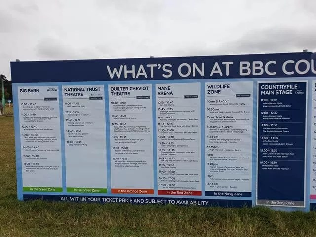 intinerary countryfile live