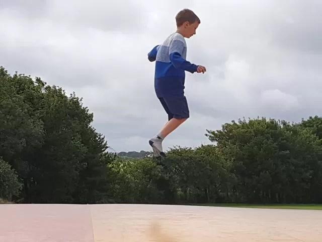 jumping pillow bouncing
