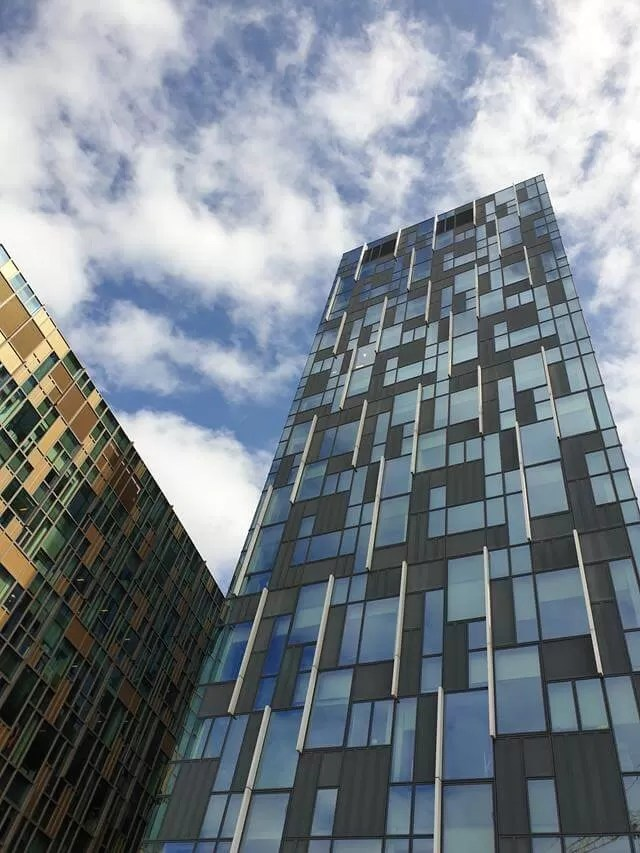 tall patterned flats in London