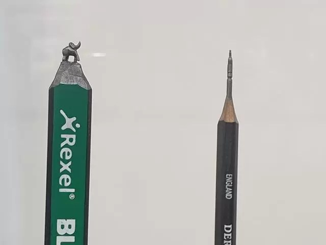 pencil carving detail