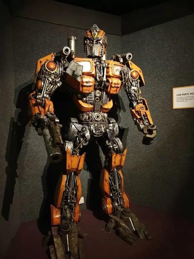 scrap junk life size superhero model