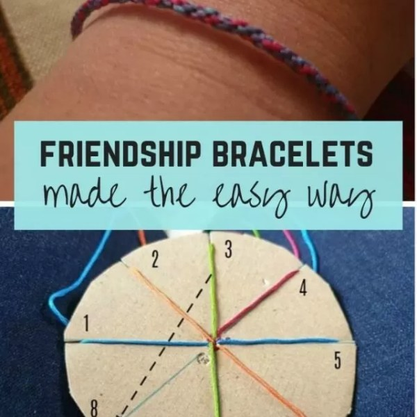 Making kids friendship bracelets the easy way