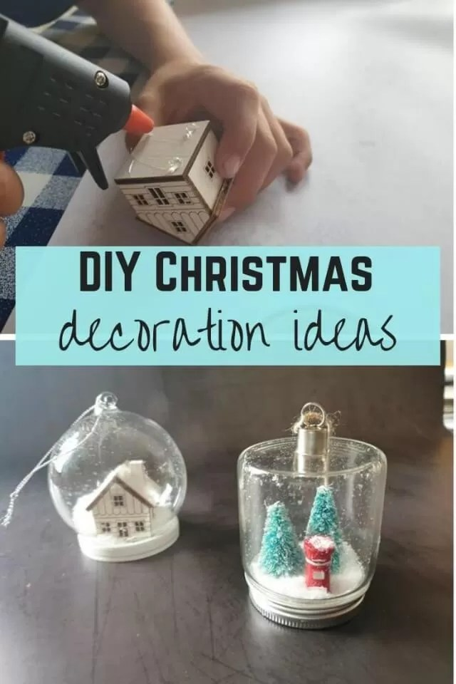 Make your own christmas decoration ideas - Bubbablue and me