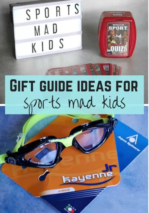 gift guide ideas for sports mad kids - Bubbablue and me