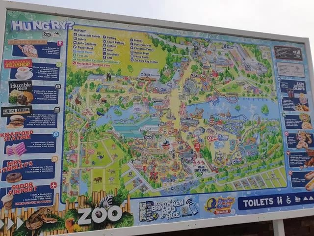 drayton manor theme park map