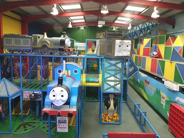 view into Thomasland softplay