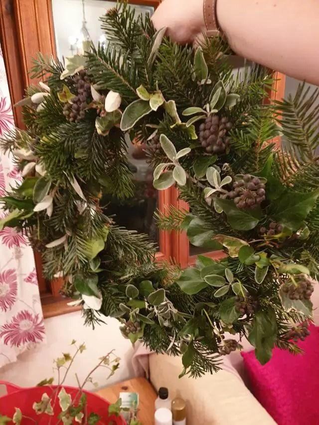 basic wreath base before decorations