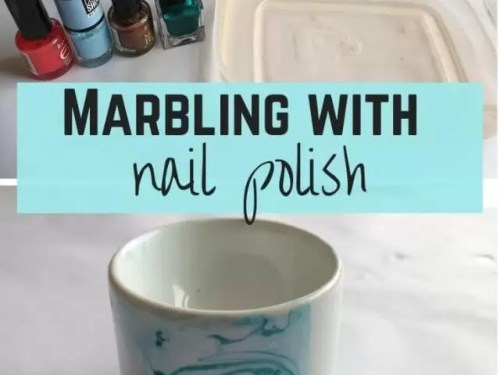 nail polish marbeiing crafts