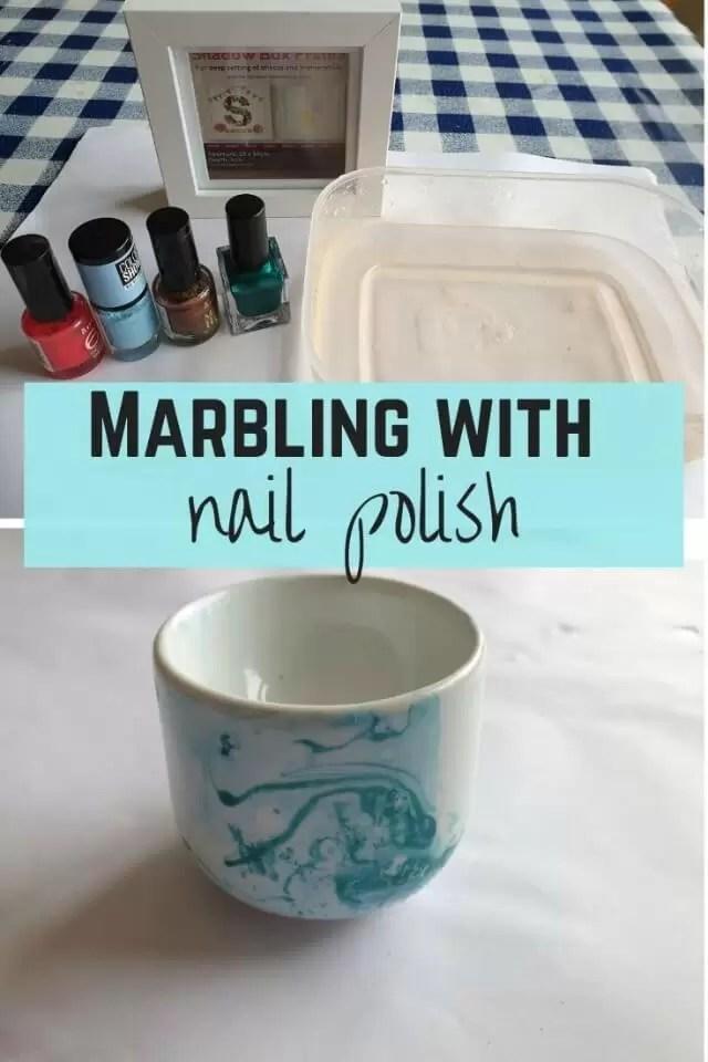 nail polish marbeiing crafts