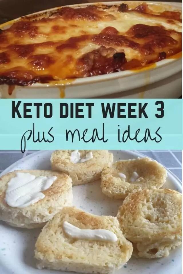 Keto diet week 3 and meal ideas