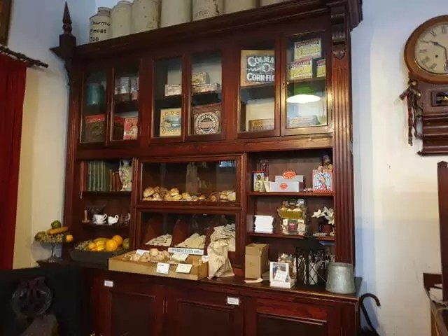 inside victorian grocery shop
