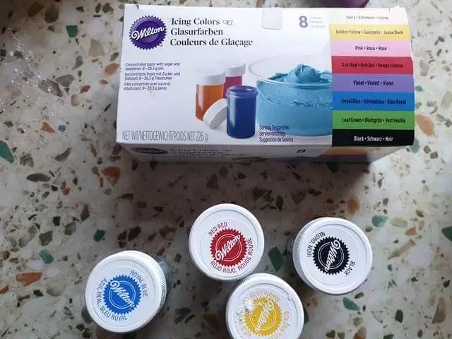 Wilton food colourings.