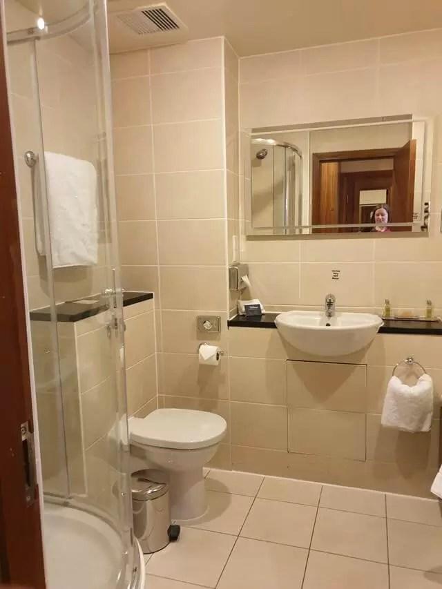 bathroom at cambridge belfry