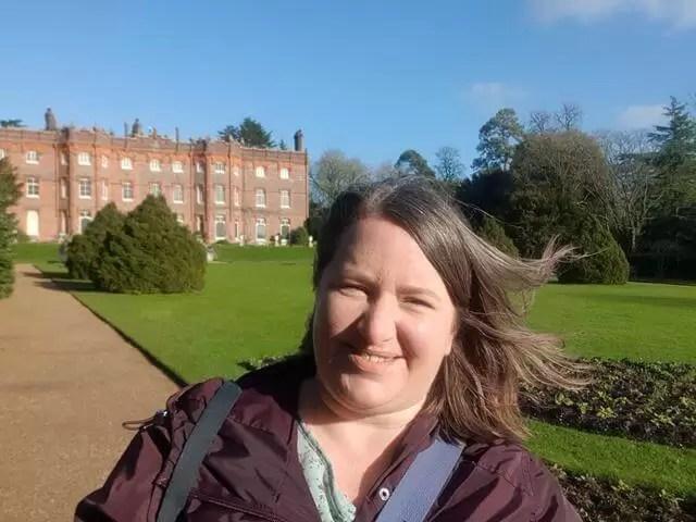 selfie in front of haughenden manor