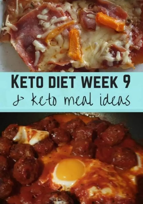 Keto week 9 meal ideas