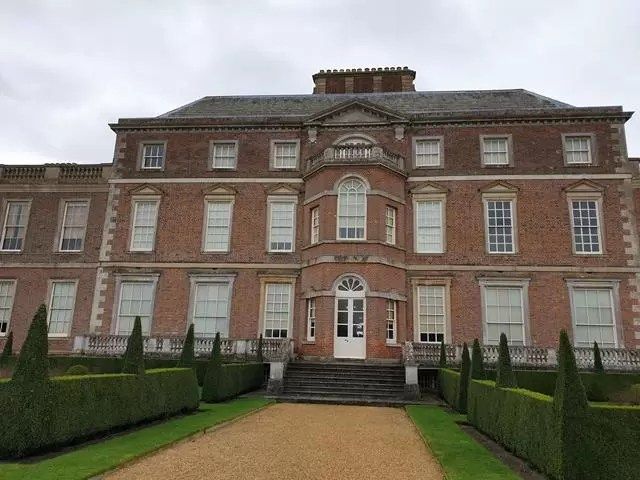 front of wimpole estate