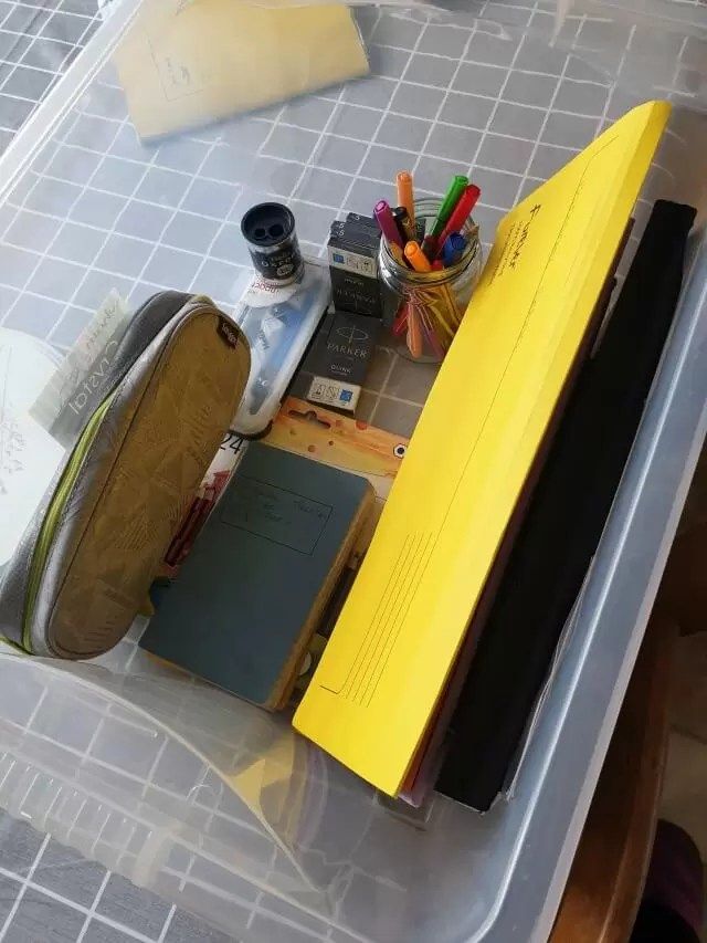home schooling box ready
