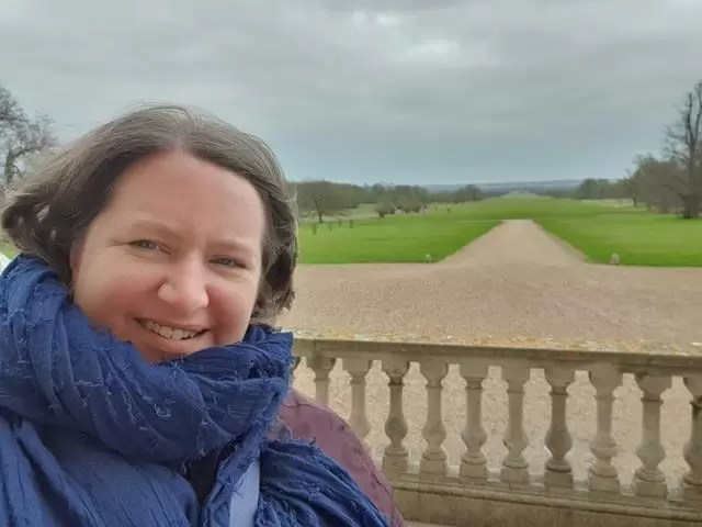 in front of the drive behind Wimpole House
