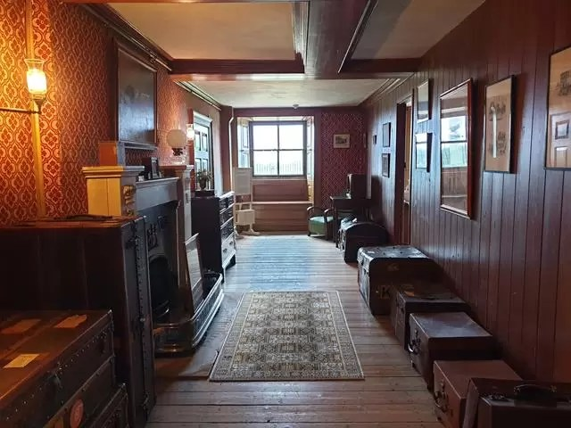 servants corridor at wimpole estate