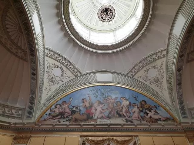 wimpole house ceiling