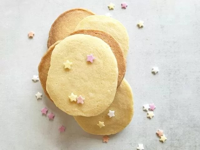 uneven stack of butter cookies