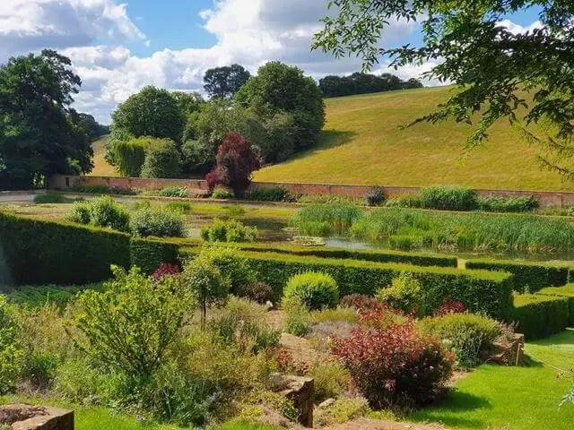 view over kitchen garden at Upton House