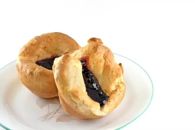 yorkshire puddings filled with jam
