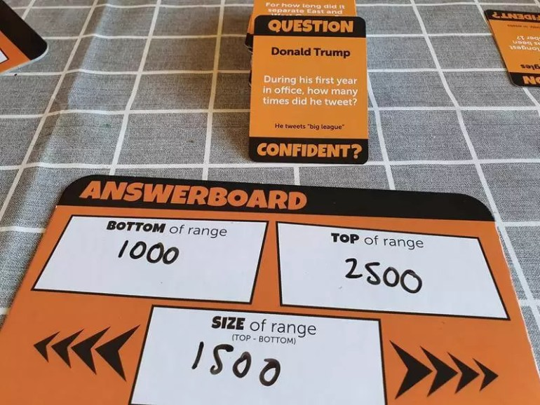 range guess and size of range answers for confident game