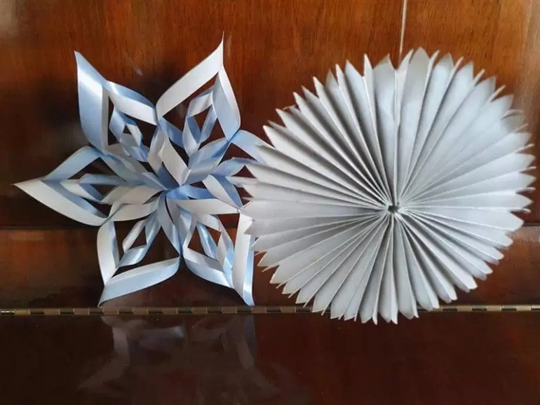 3d start and sunray paper decorations