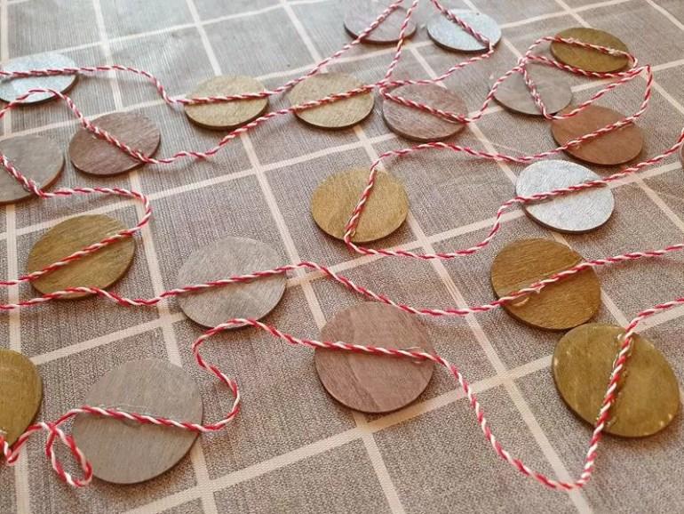 wooden circle garland