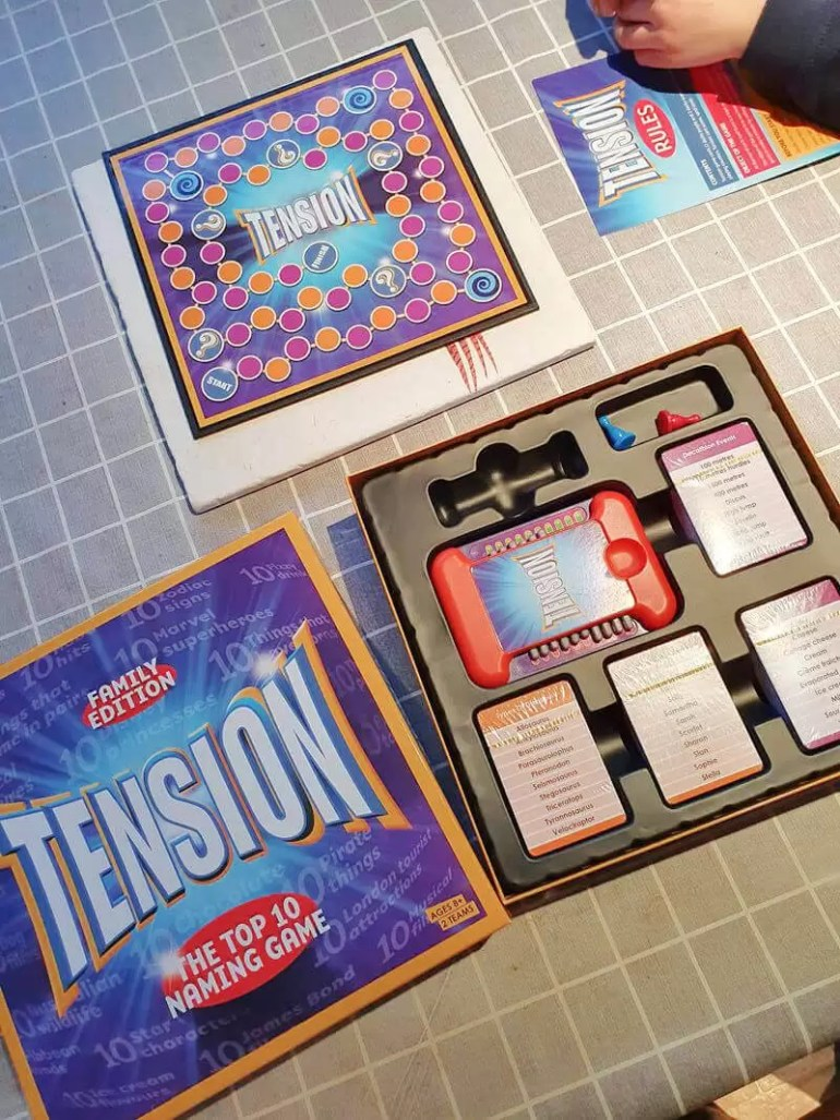 What's in the Tension board game box