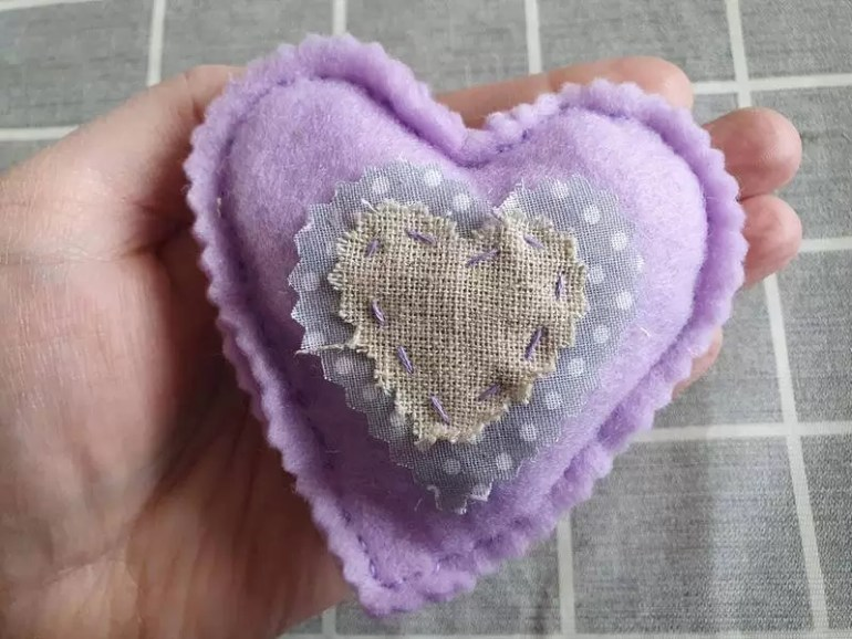 pretty shabby chic filled heart craft