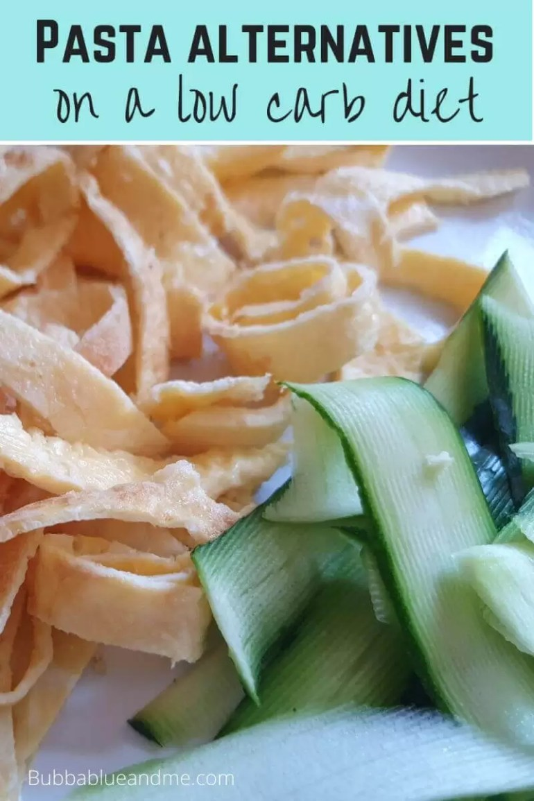 Alternatives to pasta on a low carb diet