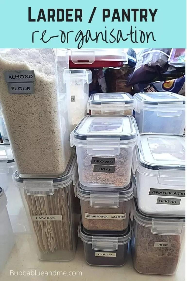larder or pantry re organisation