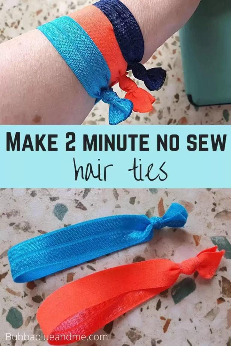 make 2 minute no sew hair ties