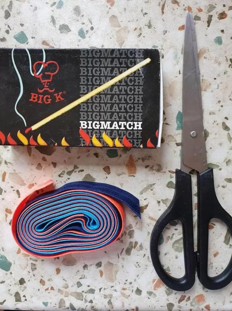 supplies needed to make elastic hair ties