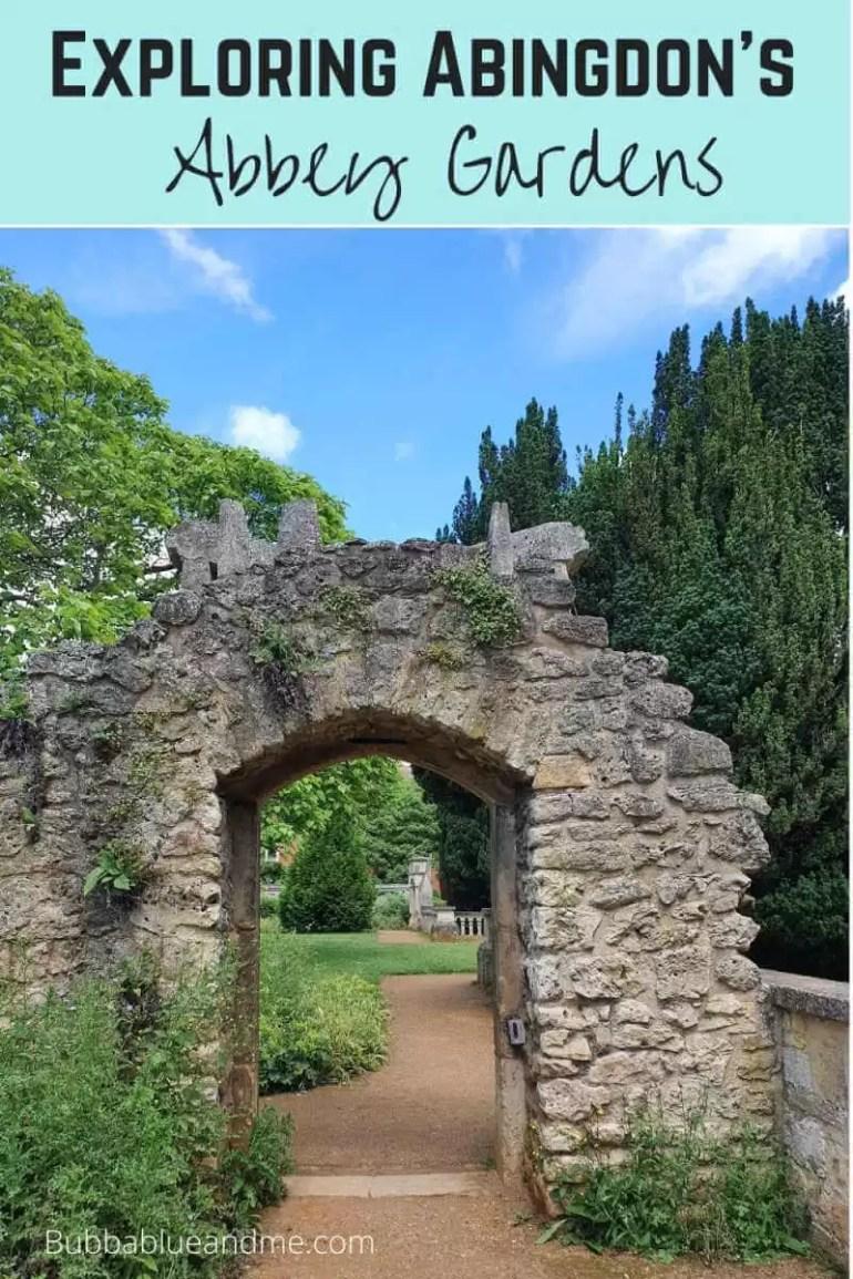 Exploring Abingdon's abbey gardens.