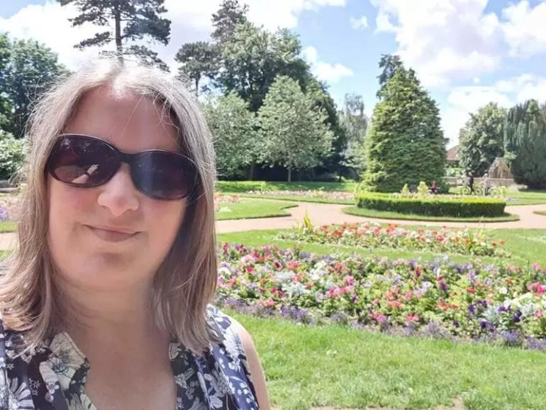 selfie overlooking abbey gardens