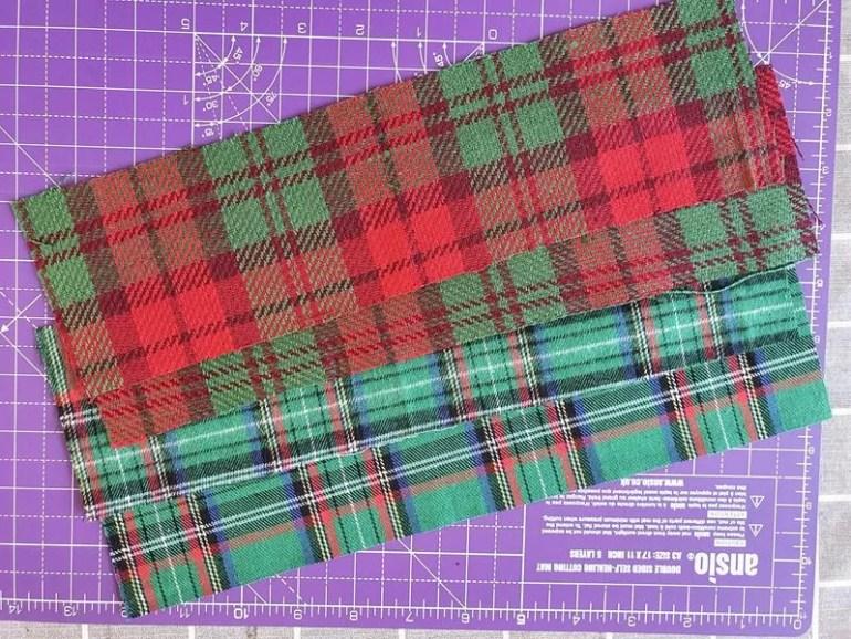 cut out material tartan