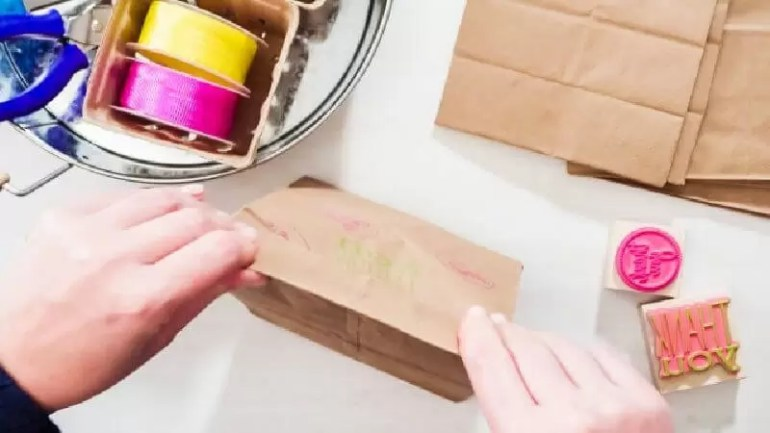paper crafting making paper bags