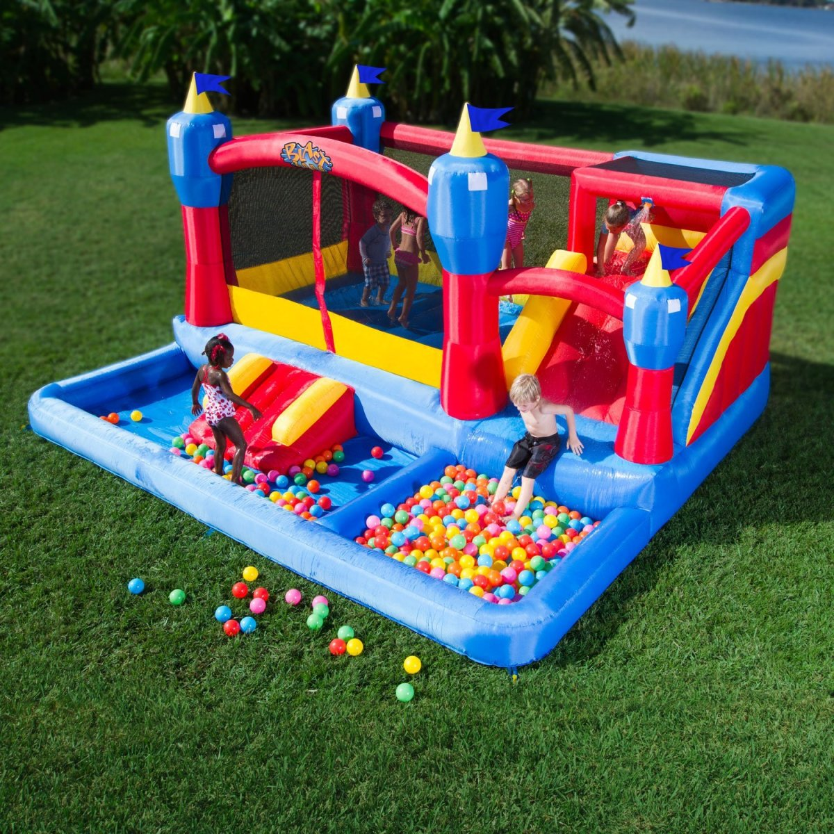 Three Top-Rated Inflatable Water Slides Moon Bounce House