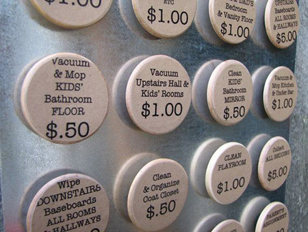 chore reward buttons